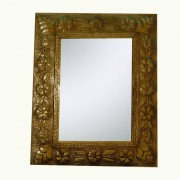 Floral-tin-mirror