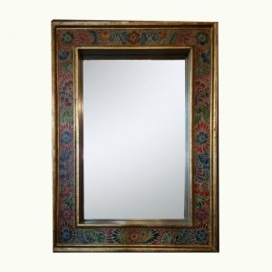 Hand-painted-Off-white-mirror
