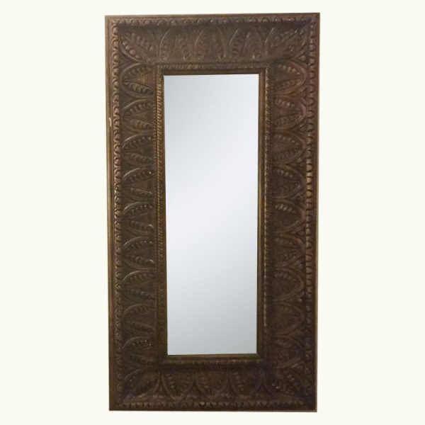 Leafs-carved-wooden-mirror