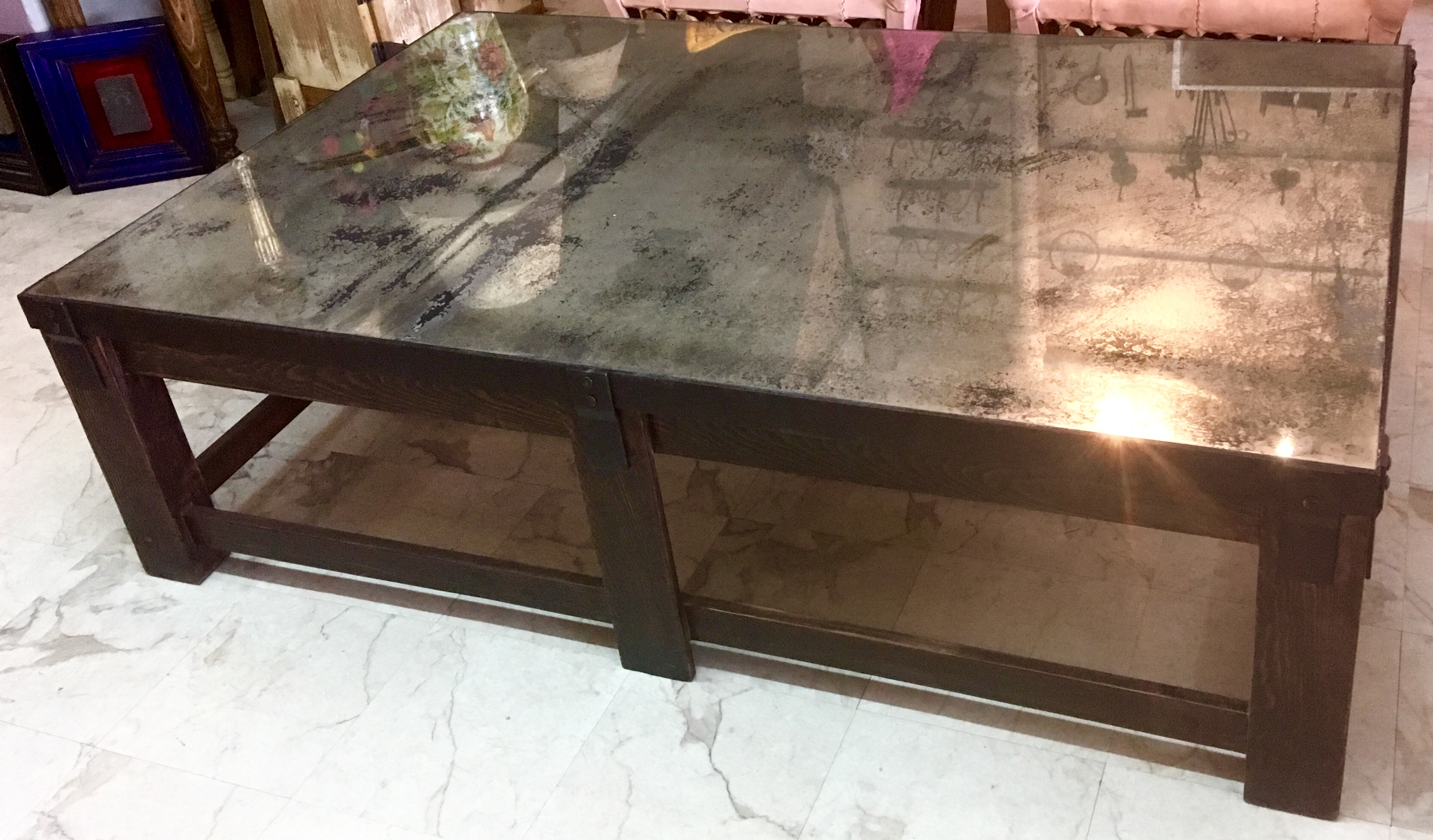 Picture of: Coffee Table Aged Mirror Artes De Mexico